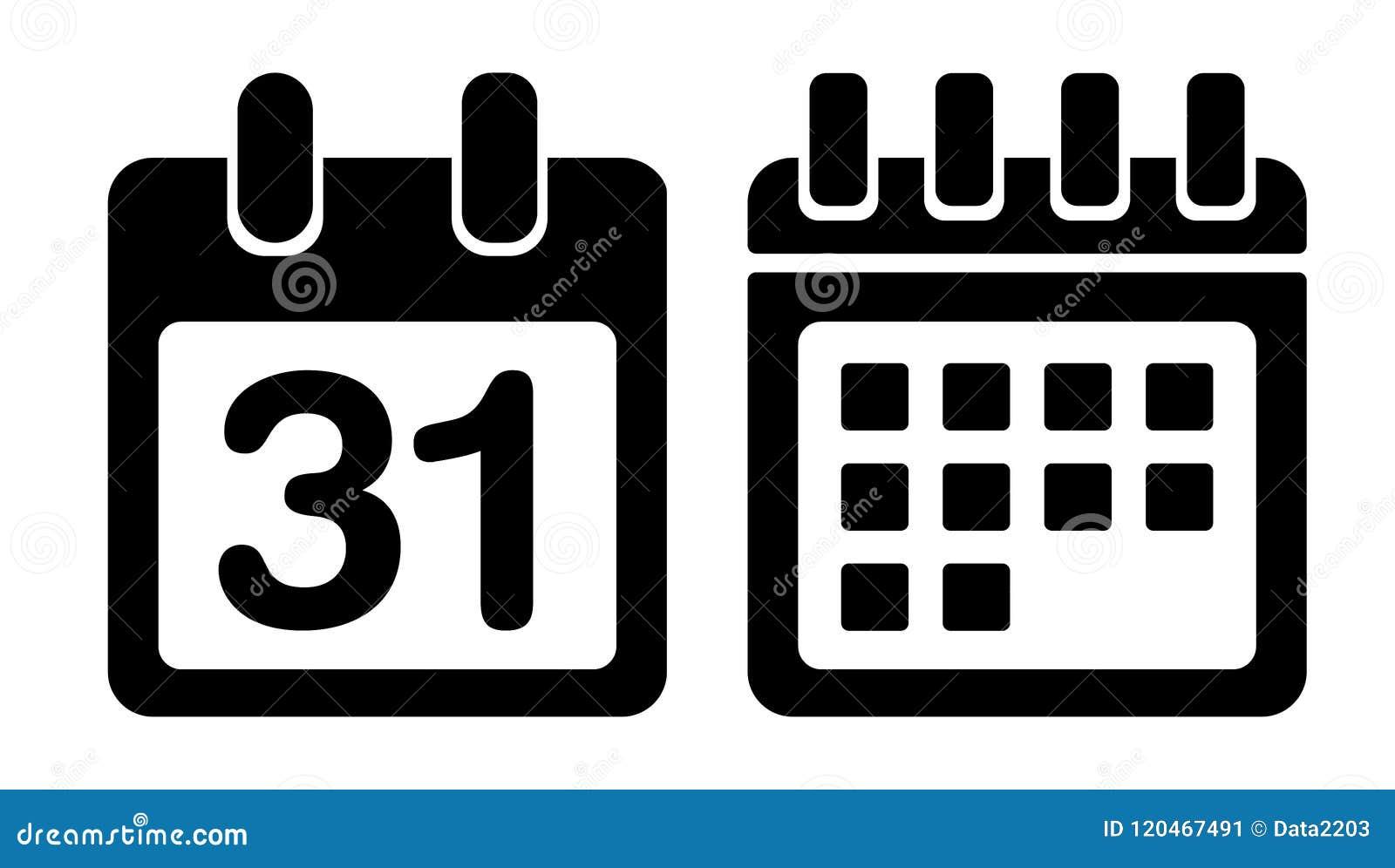 Kalendarzowa wektorowa ikona