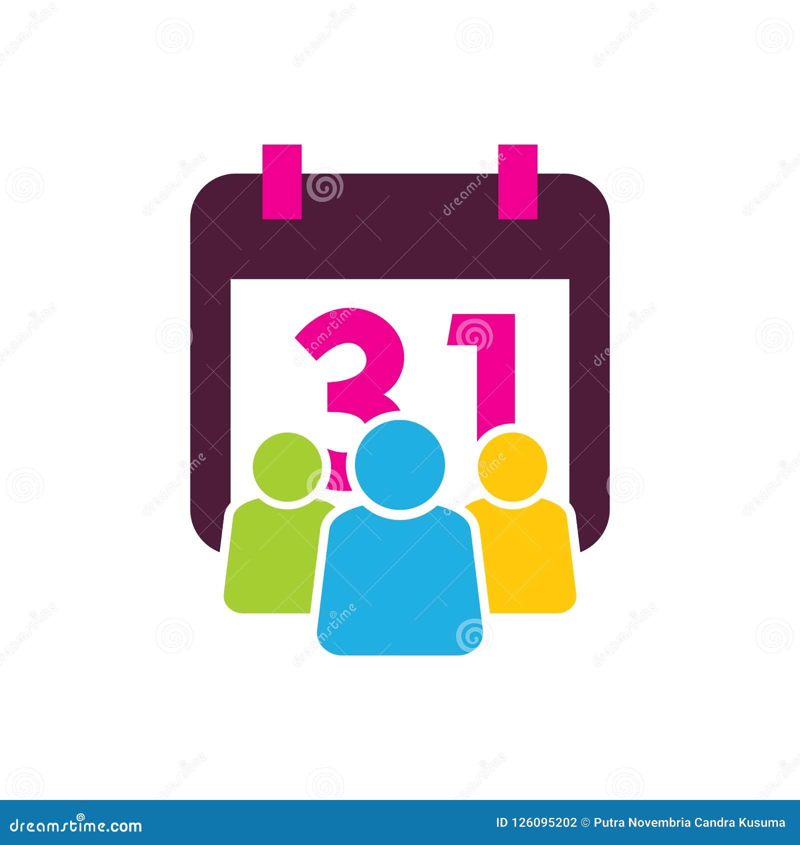 Kalendarzowy Grupowy logo ikony projekt