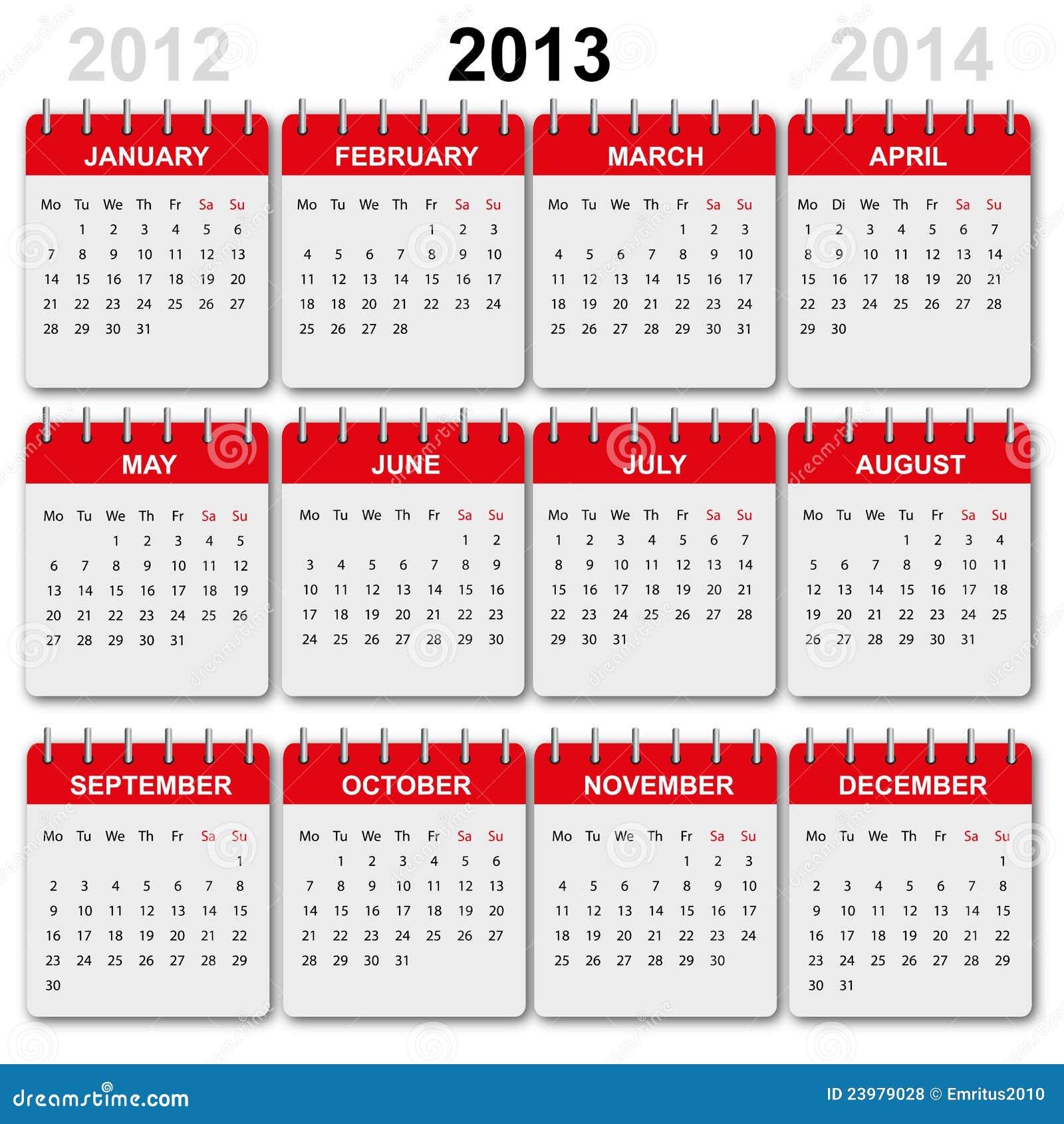 Kalender 2018 English Version