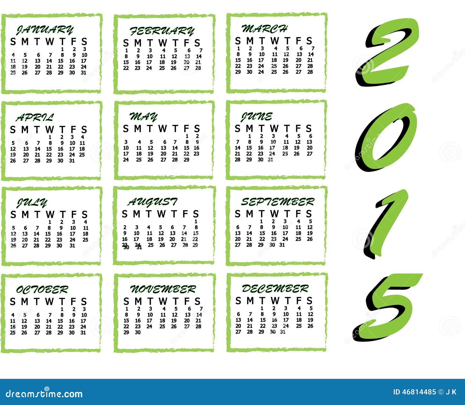 2015 Kalender