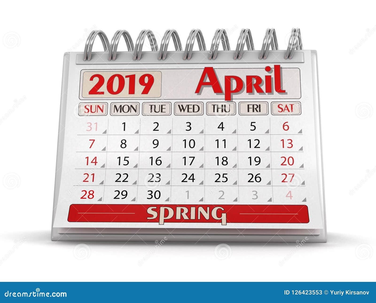 Kalender - April 2019