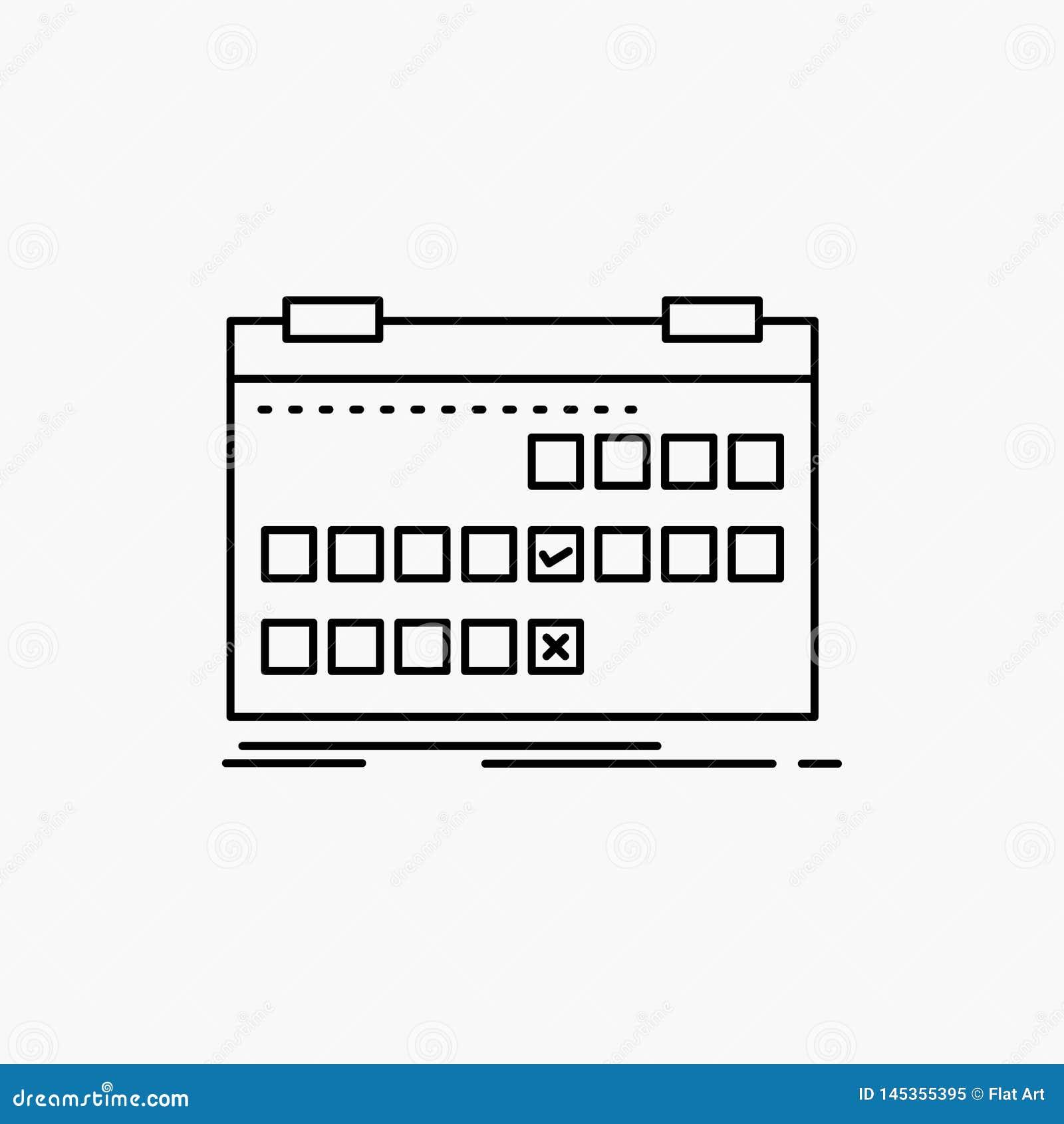 Kalender datum, h?ndelse, frig?rare, schemalinje symbol Vektor isolerad illustration