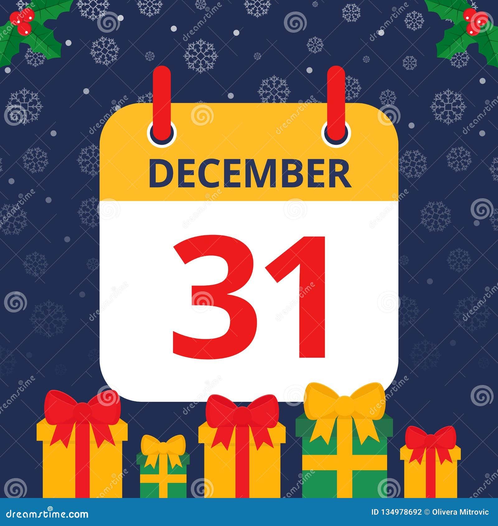 Kalender 31. December