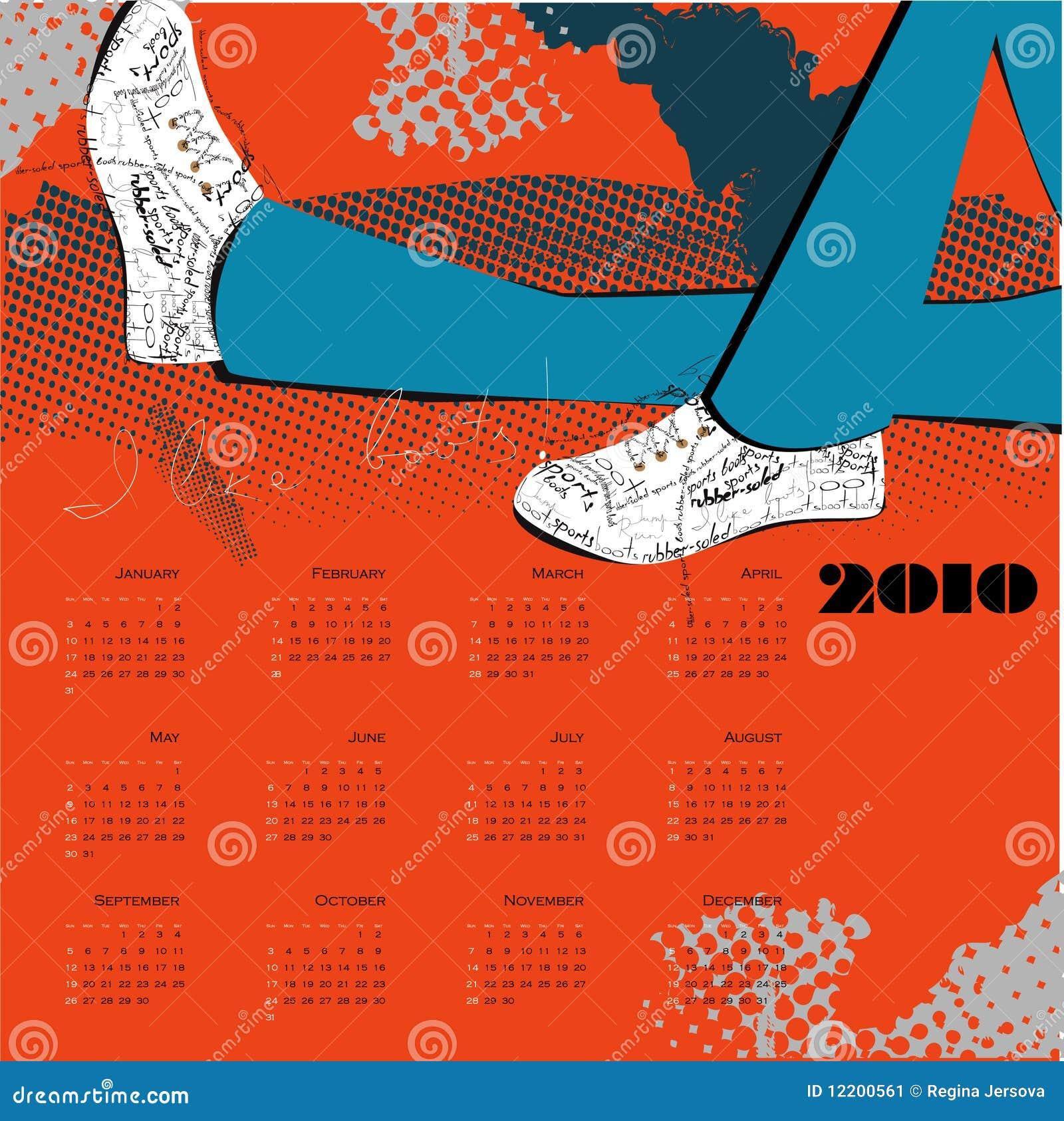 Kalender für 2010 auf englisch mit Matten