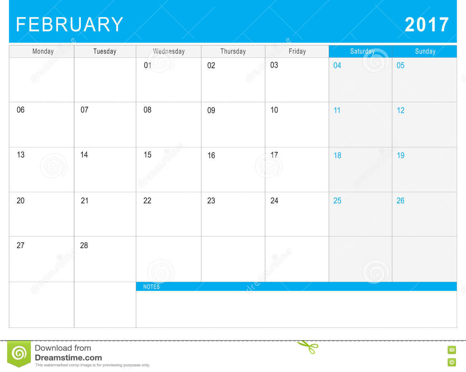 Kalender Februar-2017 u x28;