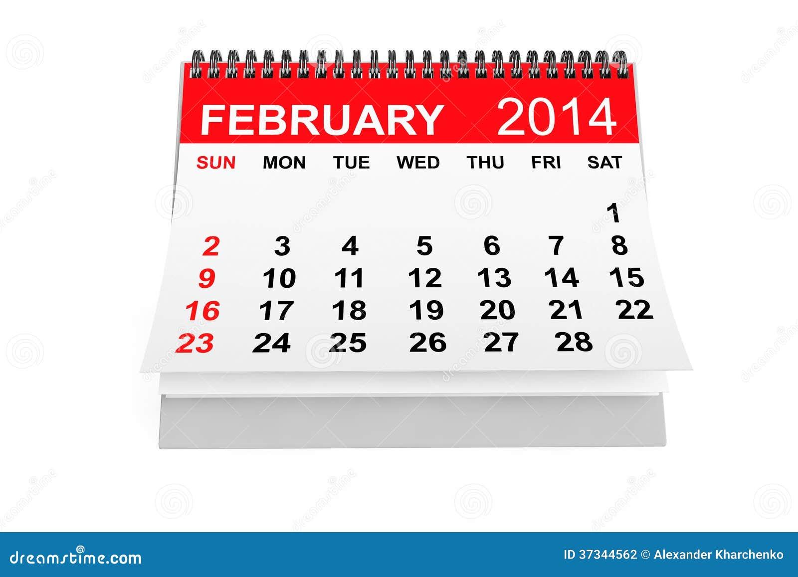 Kalender Februari 2014