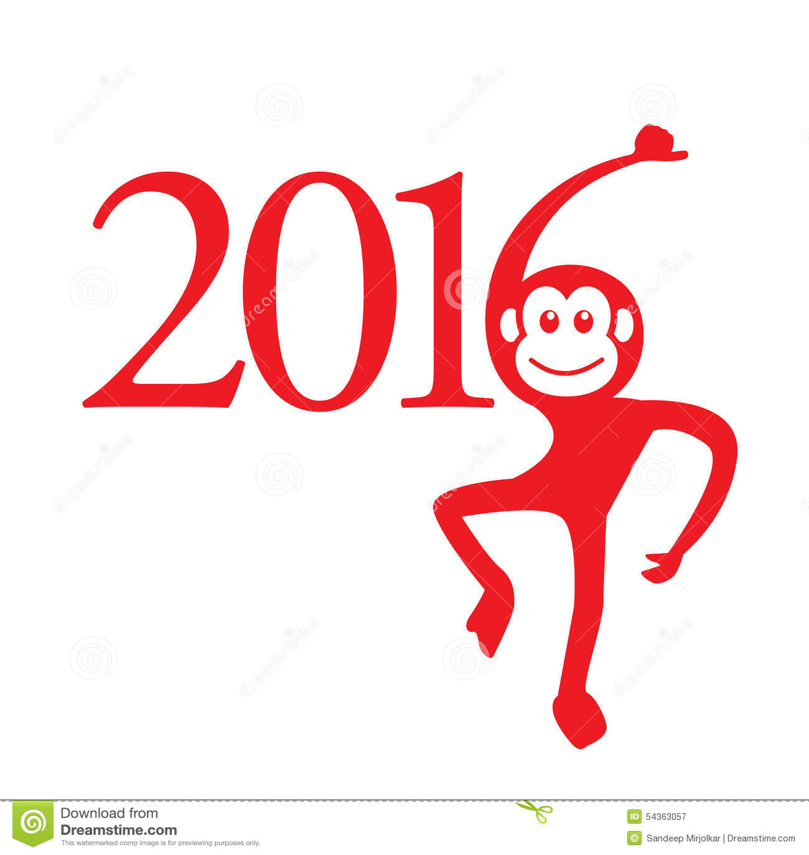 Kalender 2016-jährig vom Affen: Chinesisches Sternzeichen