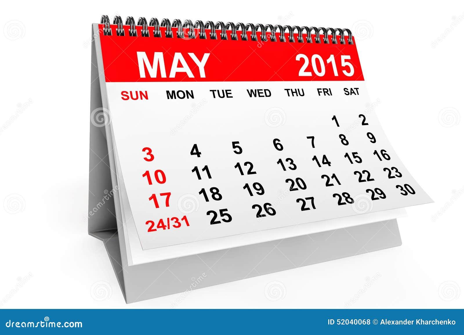Xs Calendar May : Kalender mei stock illustratie bestaande