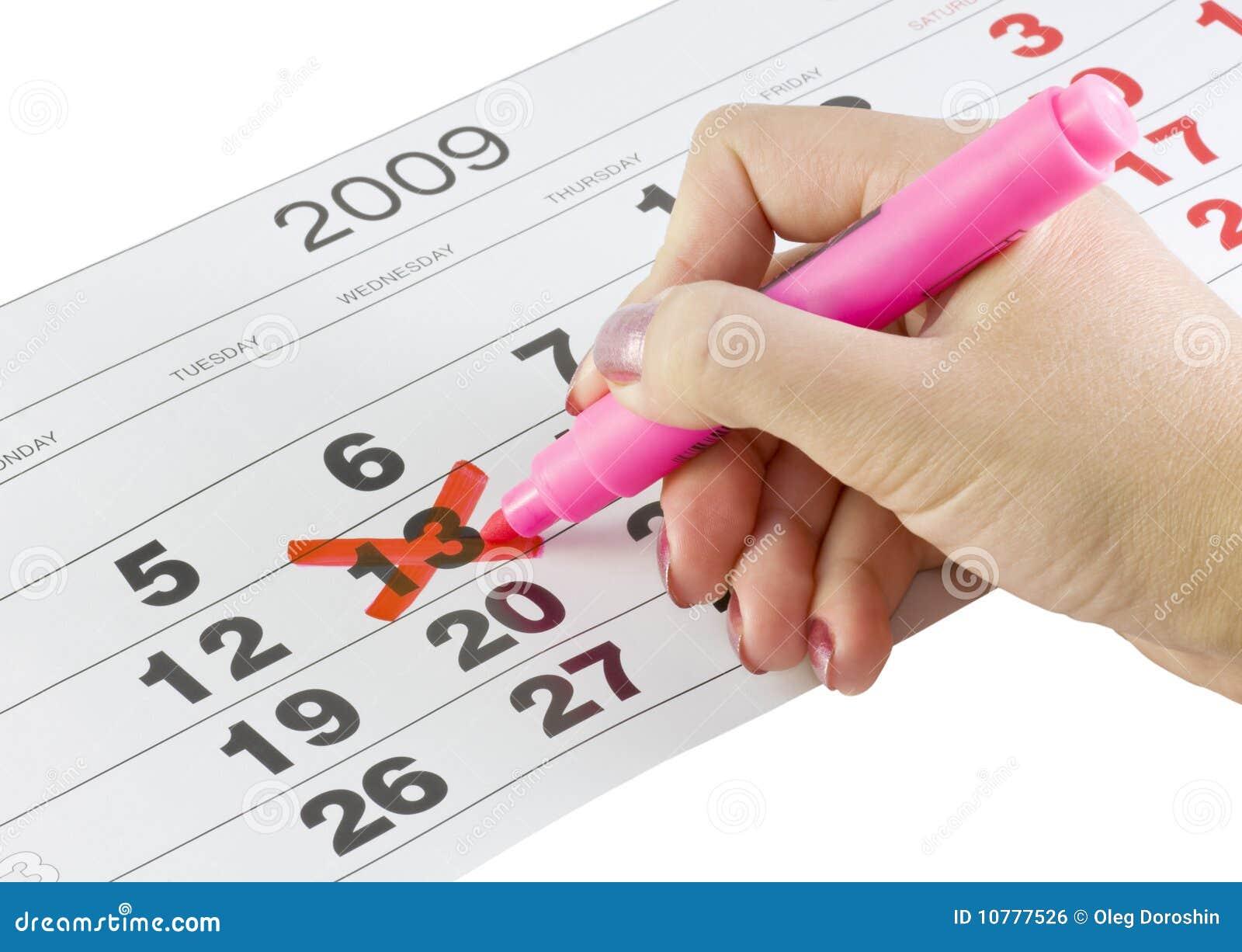 Kalender met de datum