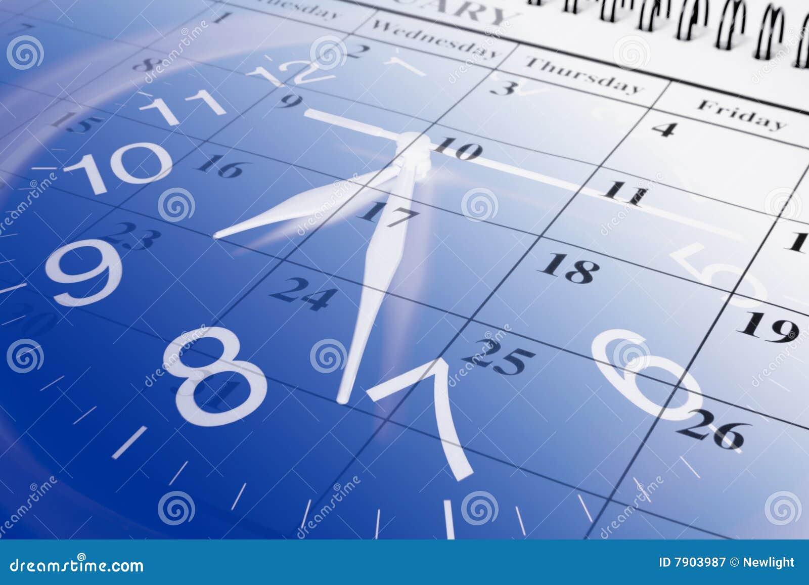 Kalender und Borduhr