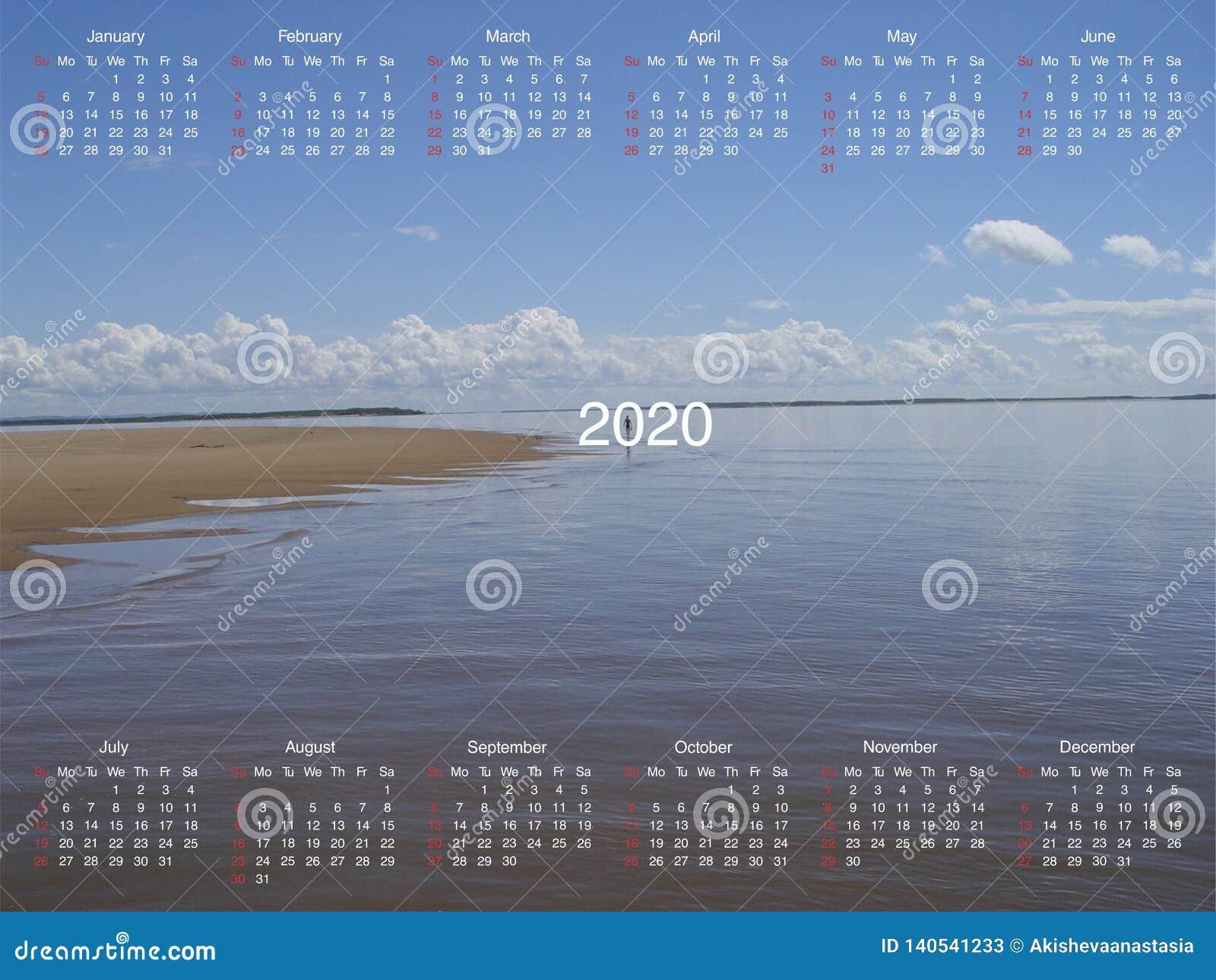 Kalender voor 2020