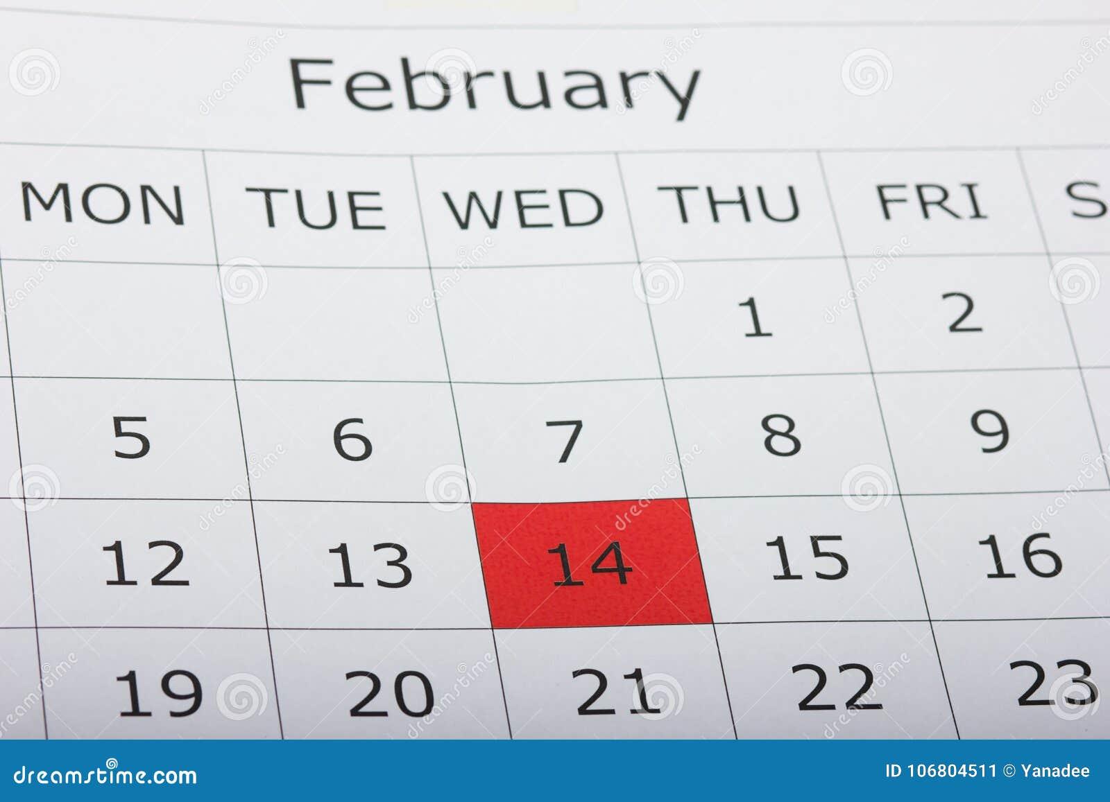 Download Kalenderfeiertag Am 14. Februar Valentinsgruß ` S Tag Stockbild - Bild von digit, abbildung: 106804511