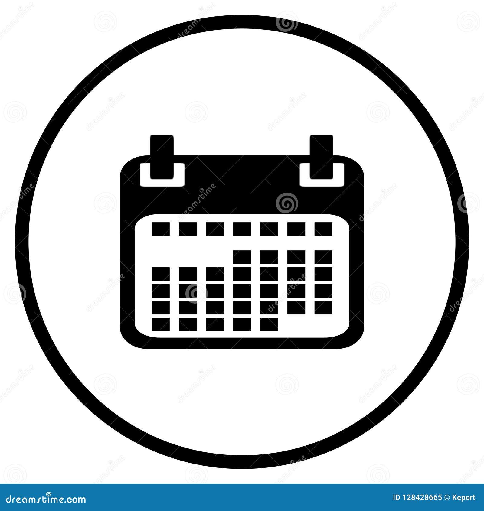 Kalendersymbol i cirkel