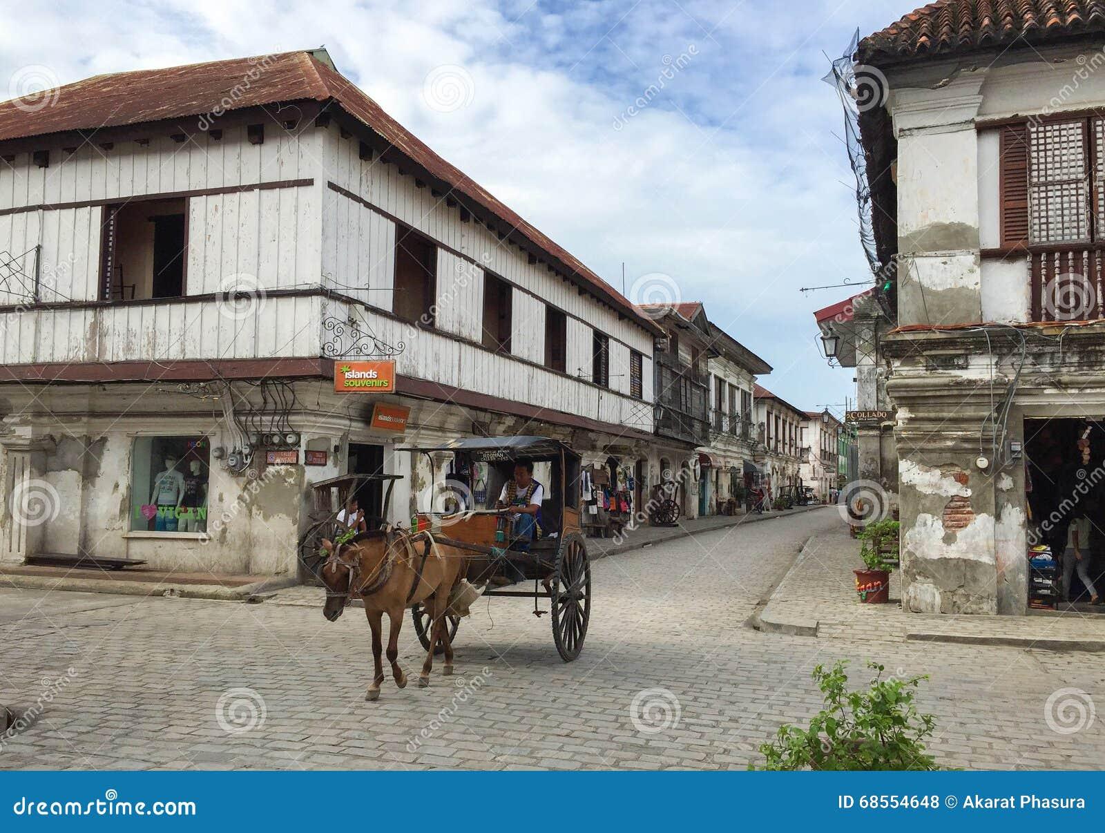Kalesa ( oder Pferd Carriage) in der historischen Stadt von Vigan