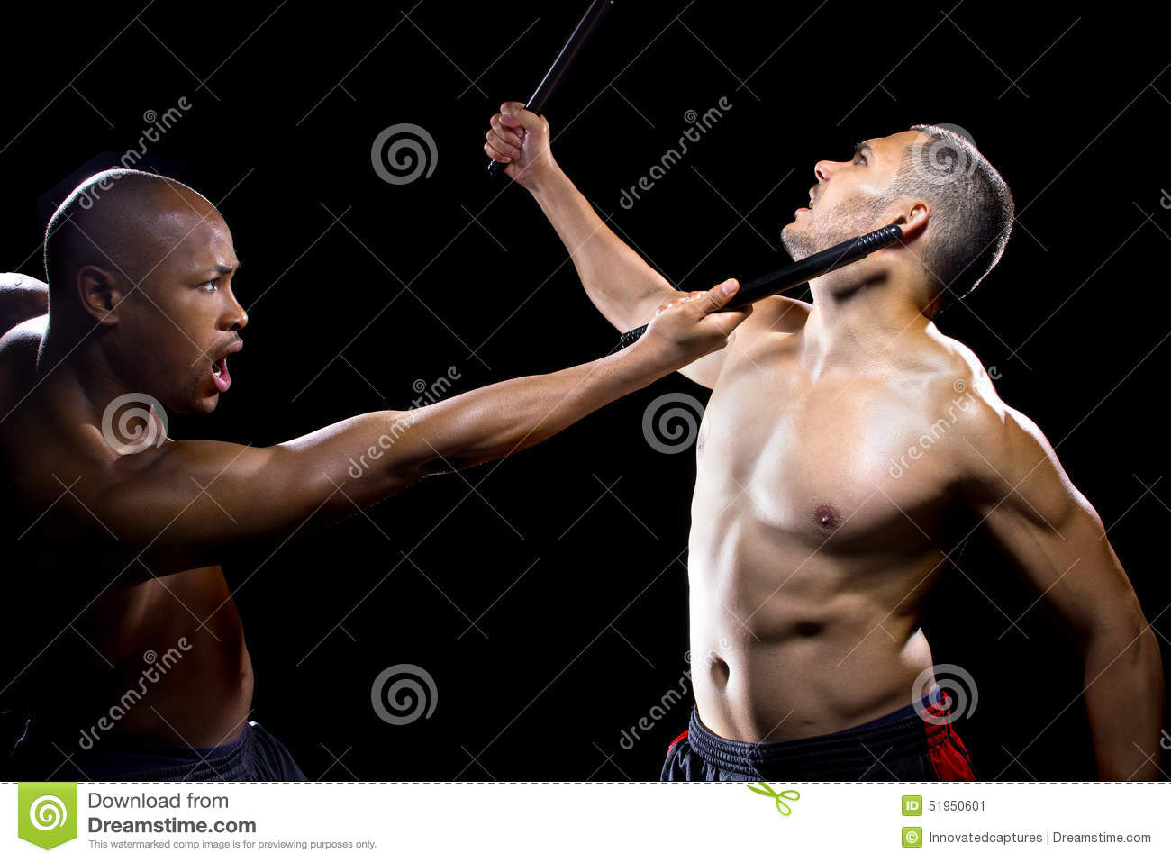 Kali Escrima Fighters Sparring Stock Image - Image of