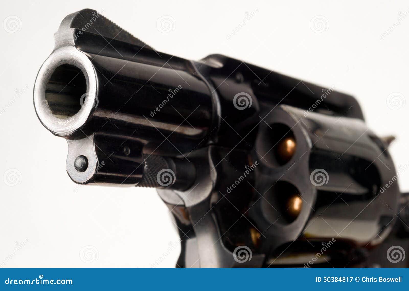 38 Kaliber-Revolver-Pistole geladenes Zylinder-Kanonenrohr gezeigt