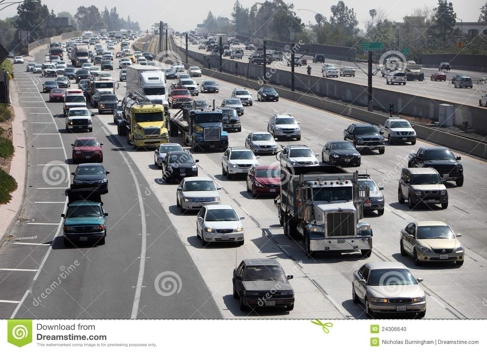 Kalifornien motorvägpasadena trafik