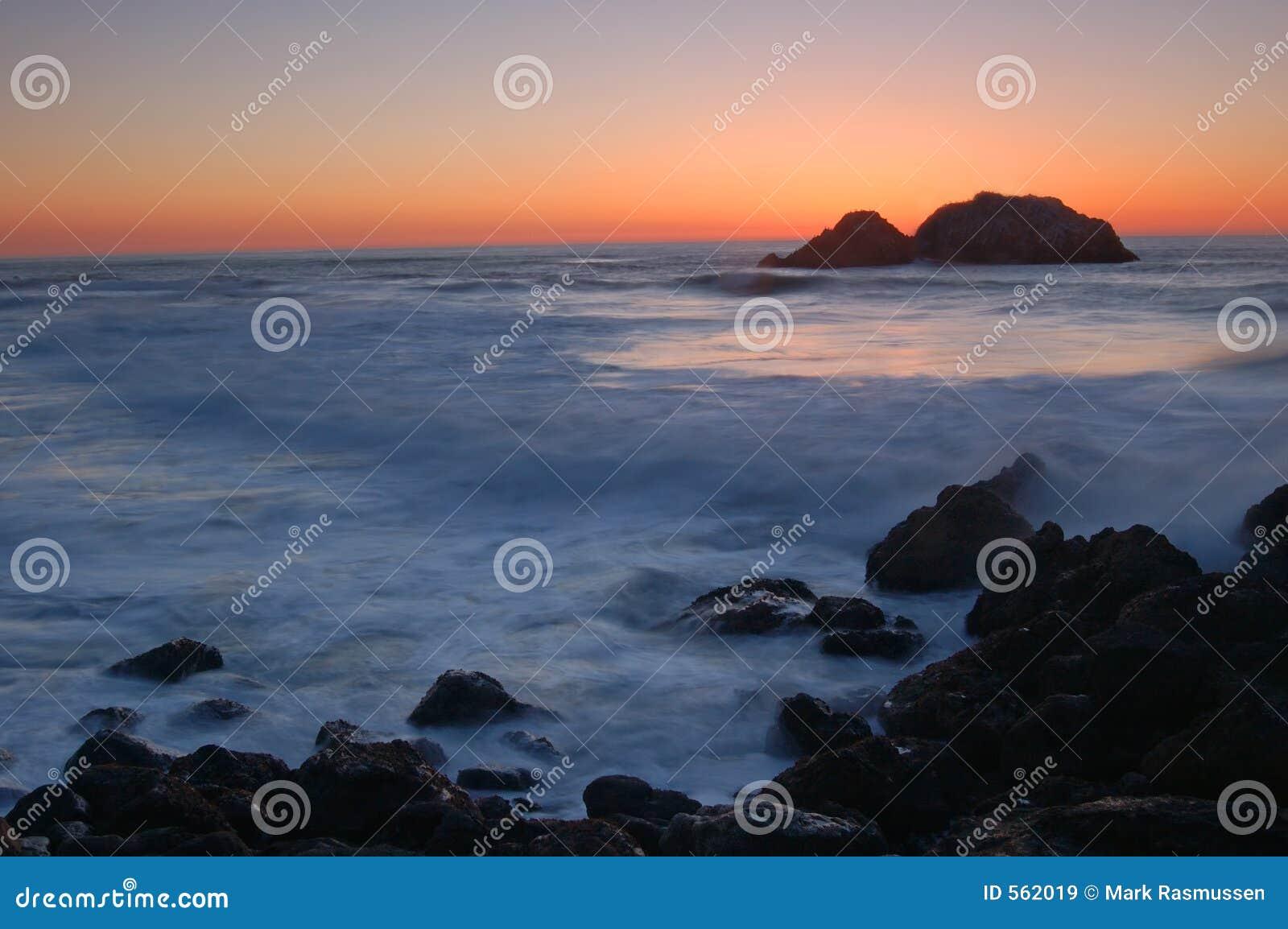 Kalifornien nordlig solnedgång