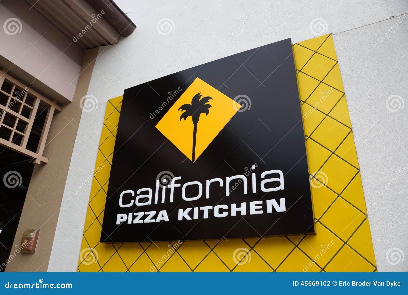 Kalifornien-Pizza-Küchen-Logo Der Lebensmitteleinrichtung Am Ala M ...