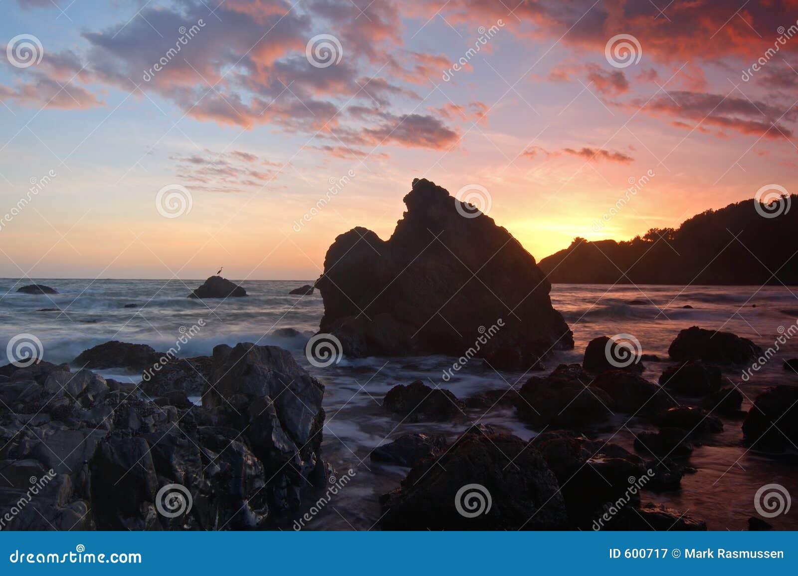 Kalifornien-Sonnenuntergang