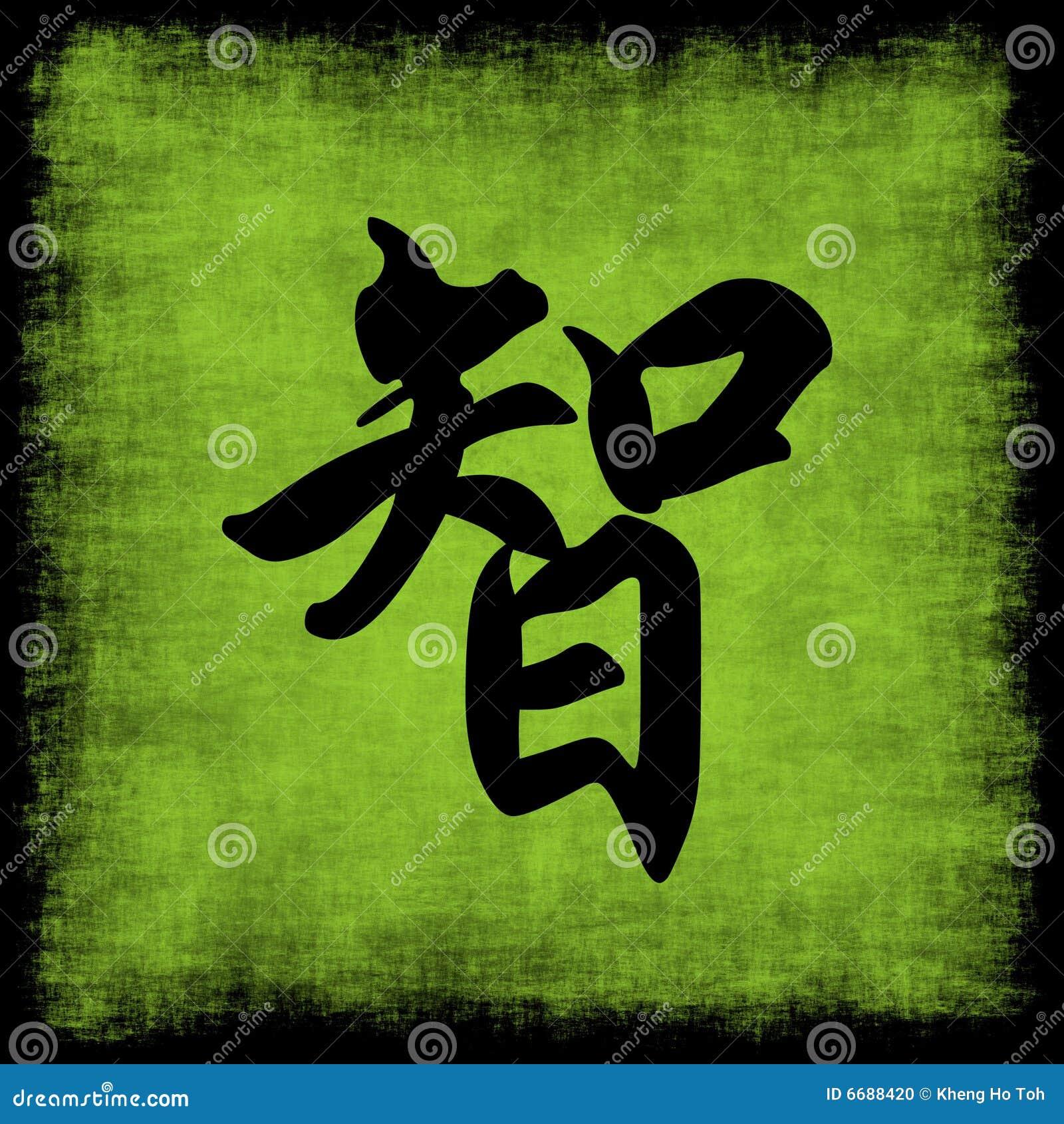 Kaligrafii mądrość chińska ustalona