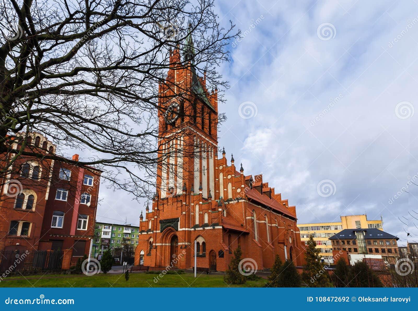 Kaliningrad, federacja rosyjska - Styczeń 4, 2018: Kirch Święte rodziny