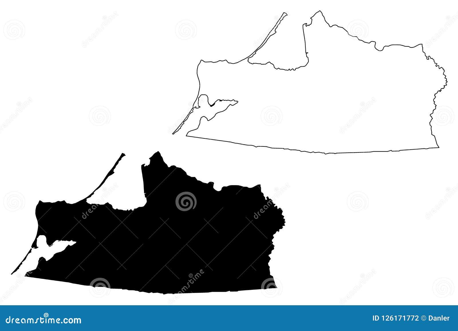 Kaliningrad Oblast Map Vector Stock Vector Illustration Of