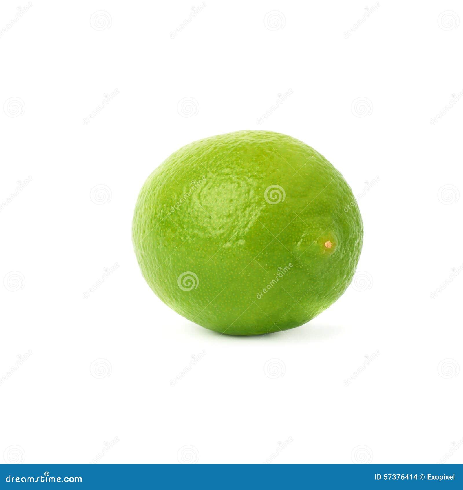 Kalkfruit over de witte achtergrond wordt geïsoleerd die