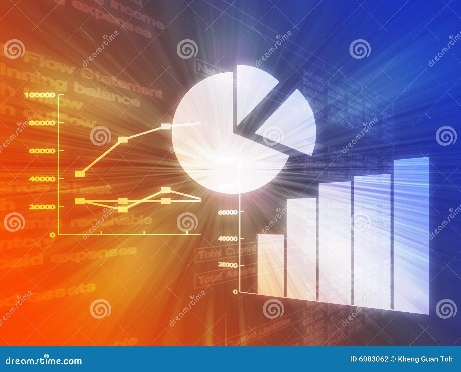 Kalkulationstabellengeschäftsdiagrammabbildung