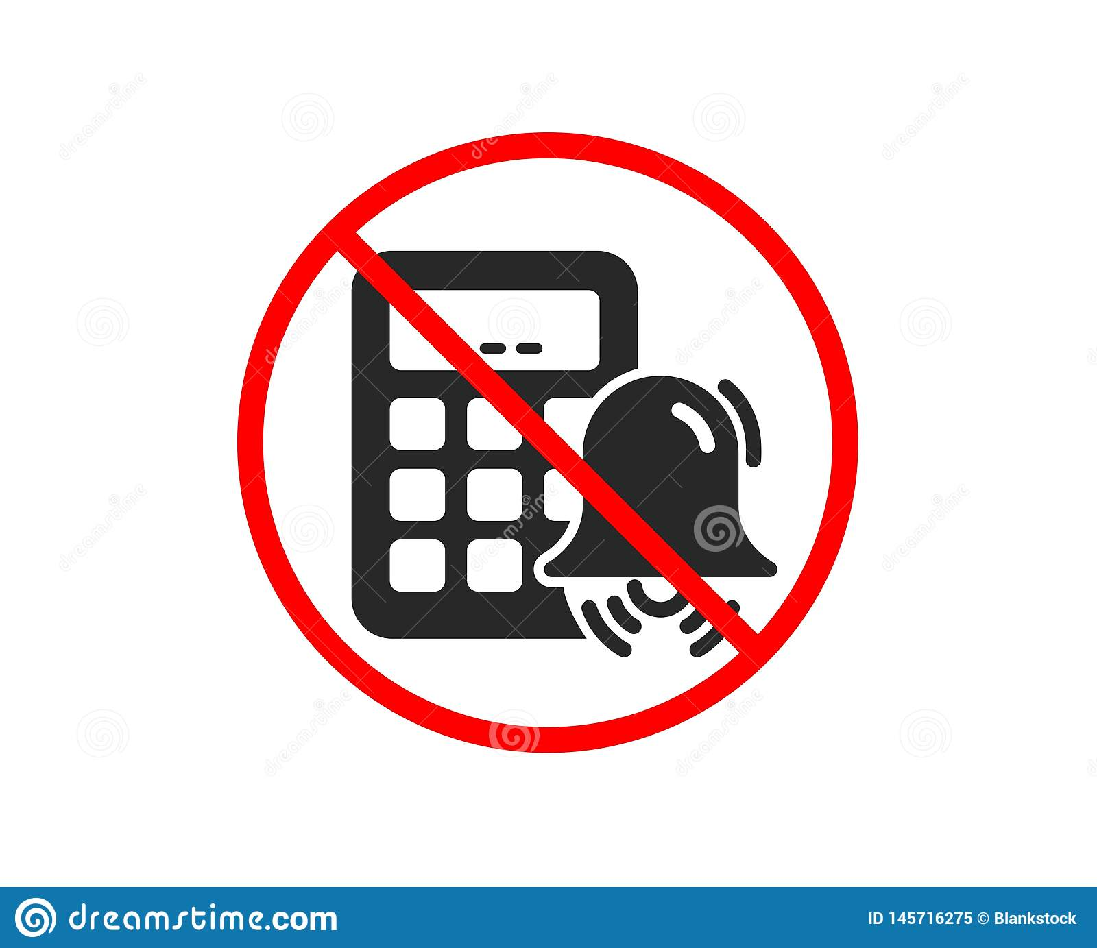 Kalkulator alarmowa ikona Rozlicza? znaka wektor