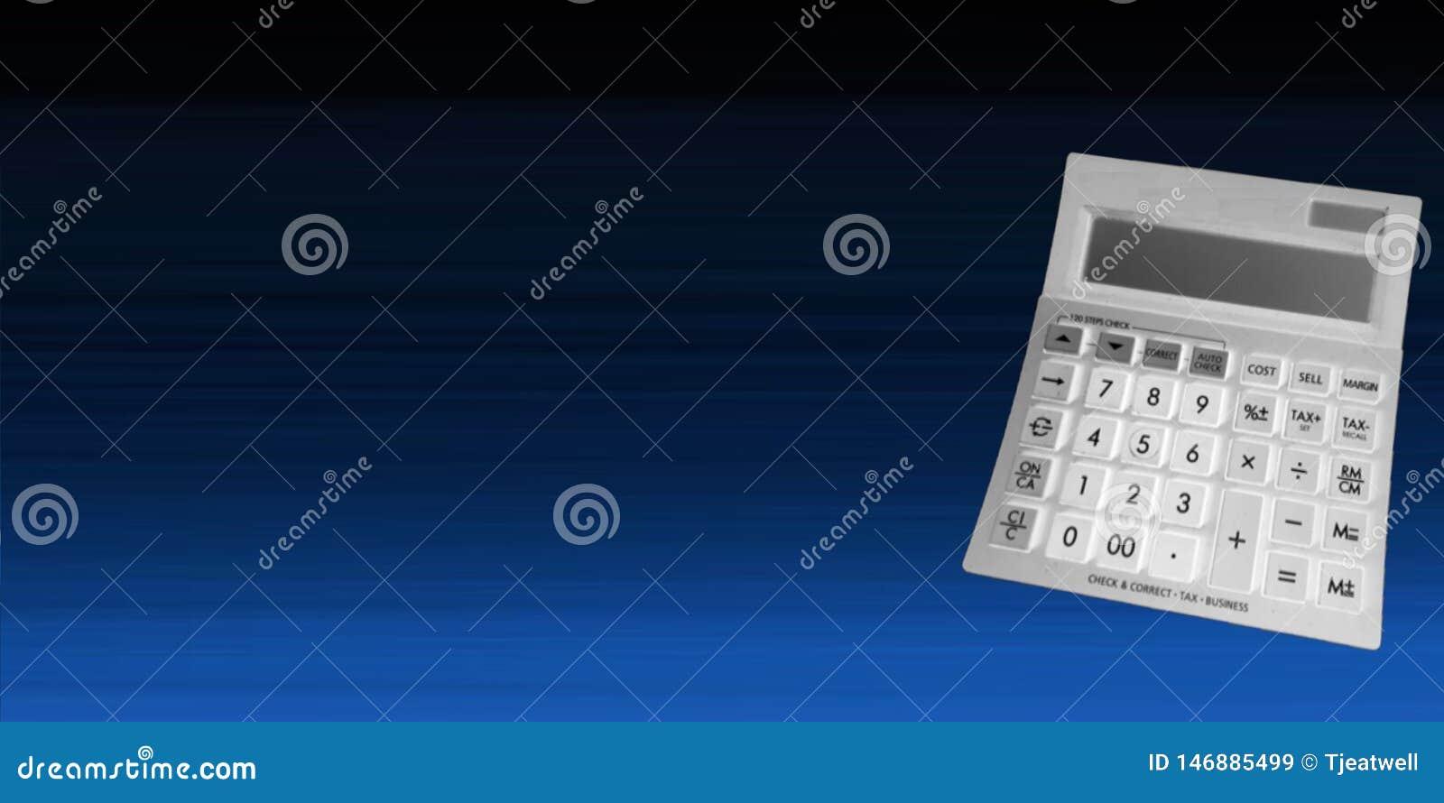Kalkulator na Błękitnym tle