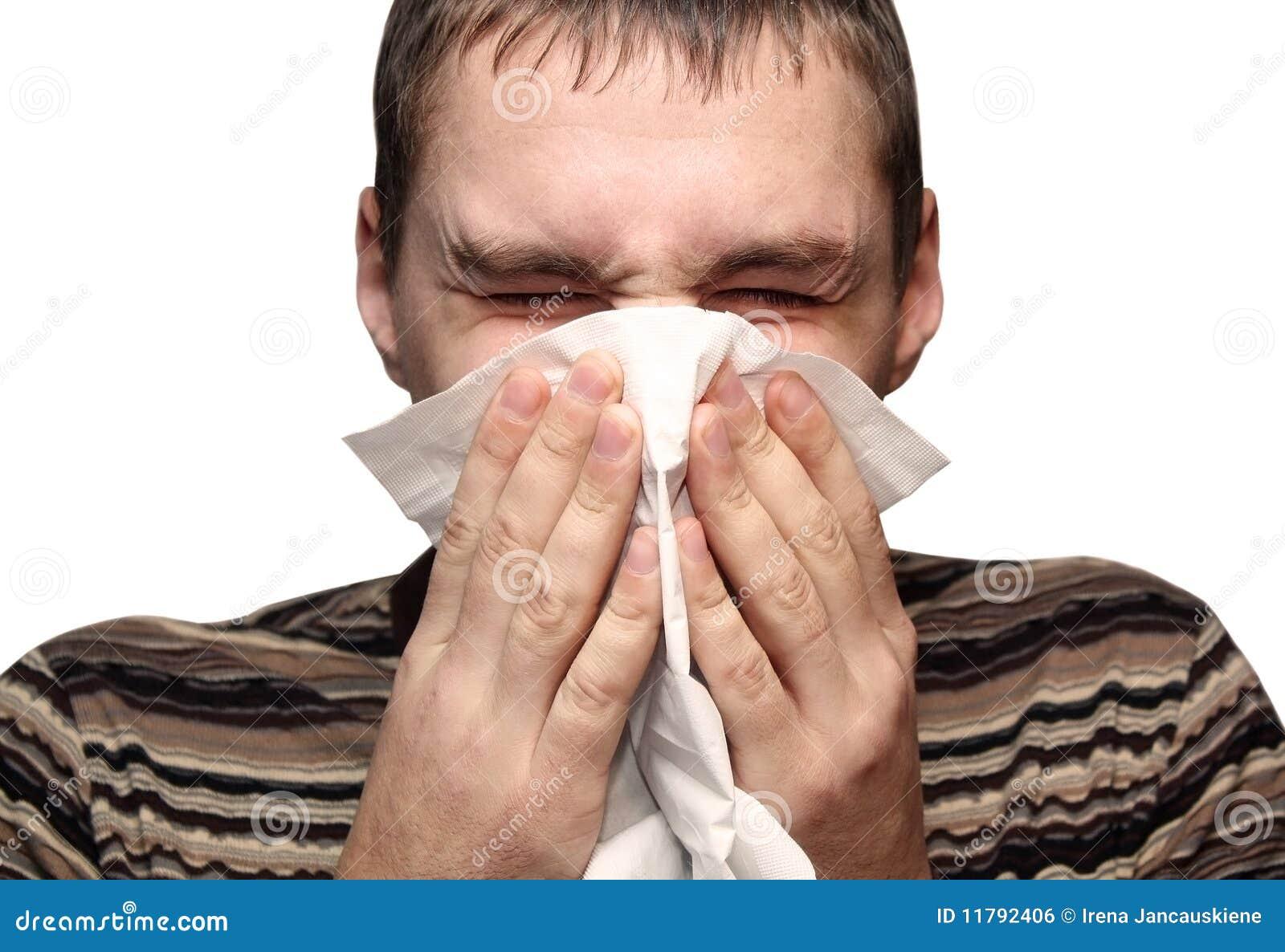 Kall Allergi Ha Male Barn Royaltyfri Bild - Bild: 11792406