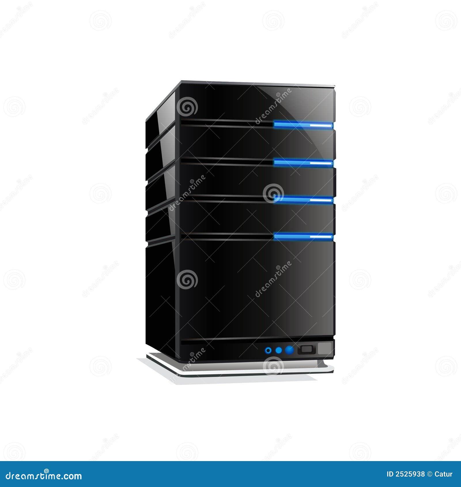 Kall servervektor för dator