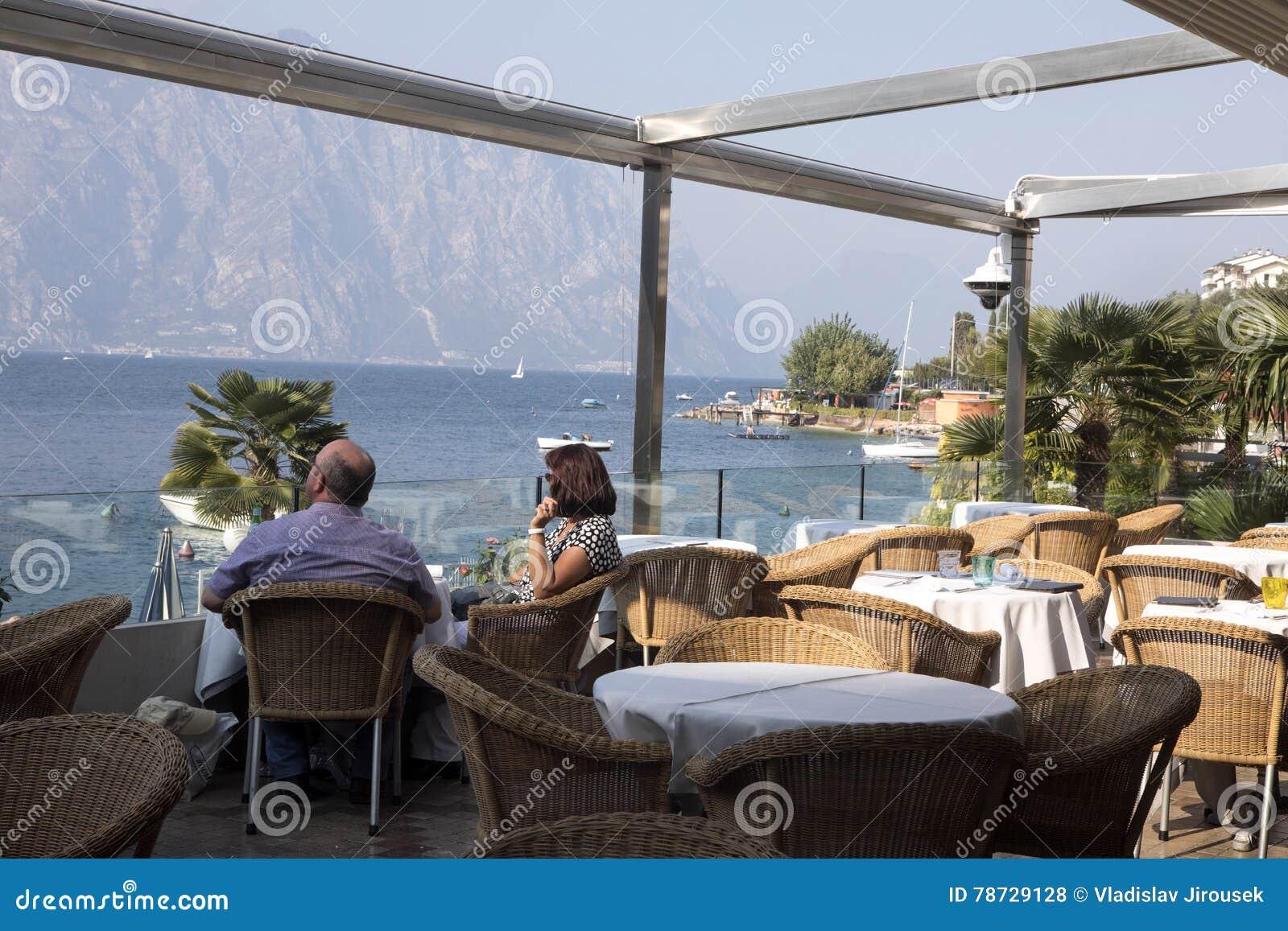 Kall tid på Lago di Garda, Italien