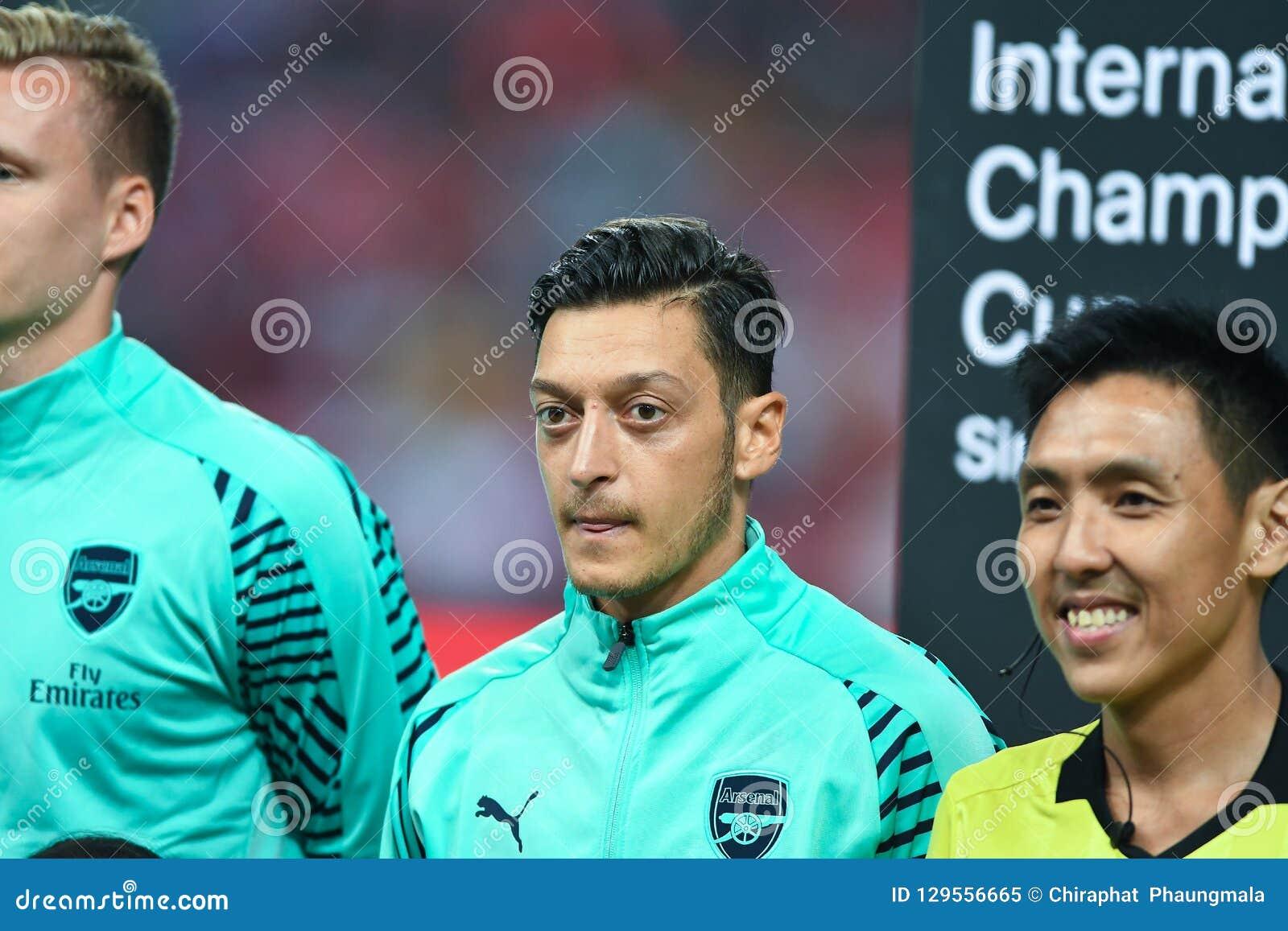 Kallang-Singapour 28 juillet 2018 : Mesut Ozil Player d arsenal dans l acti