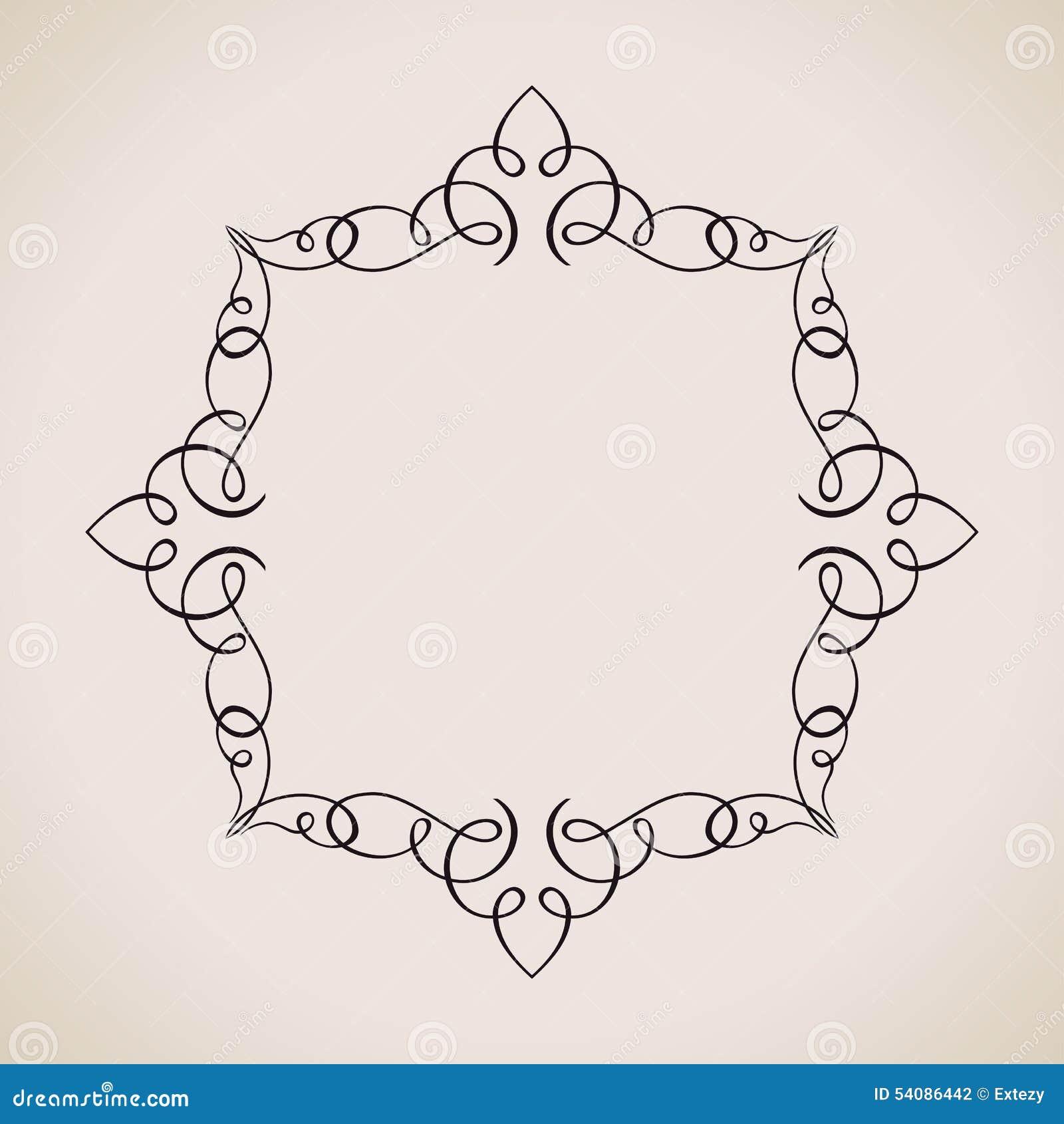 Kalligrafische Kader en Paginadecoratie Vector