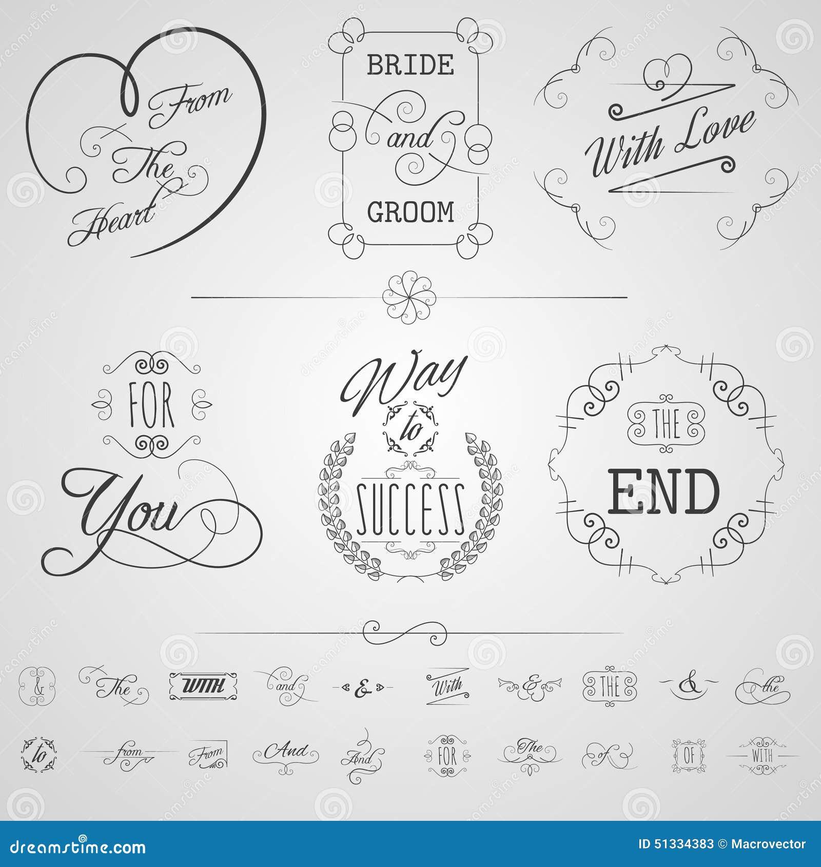 Kalligraphie Element Satz Vektor Abbildung Illustration Von Element