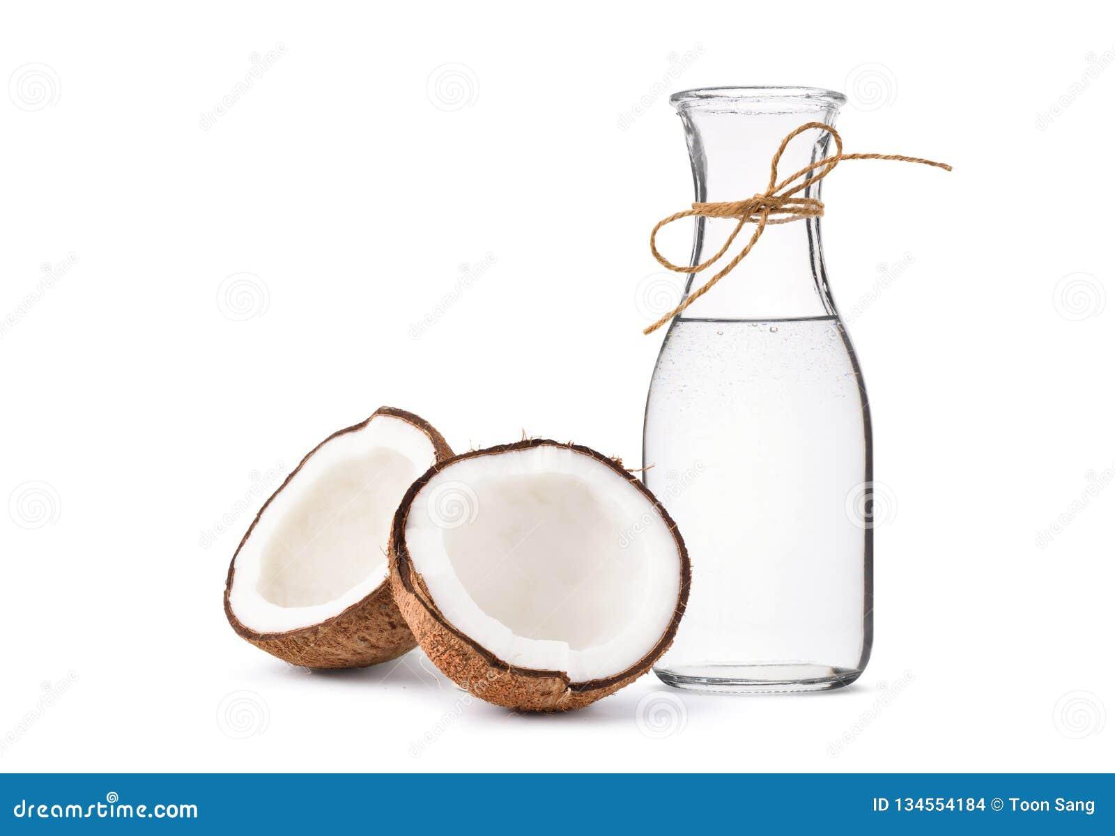 Kallt - pressande extra jungfrulig kokosnötolja i flaskor