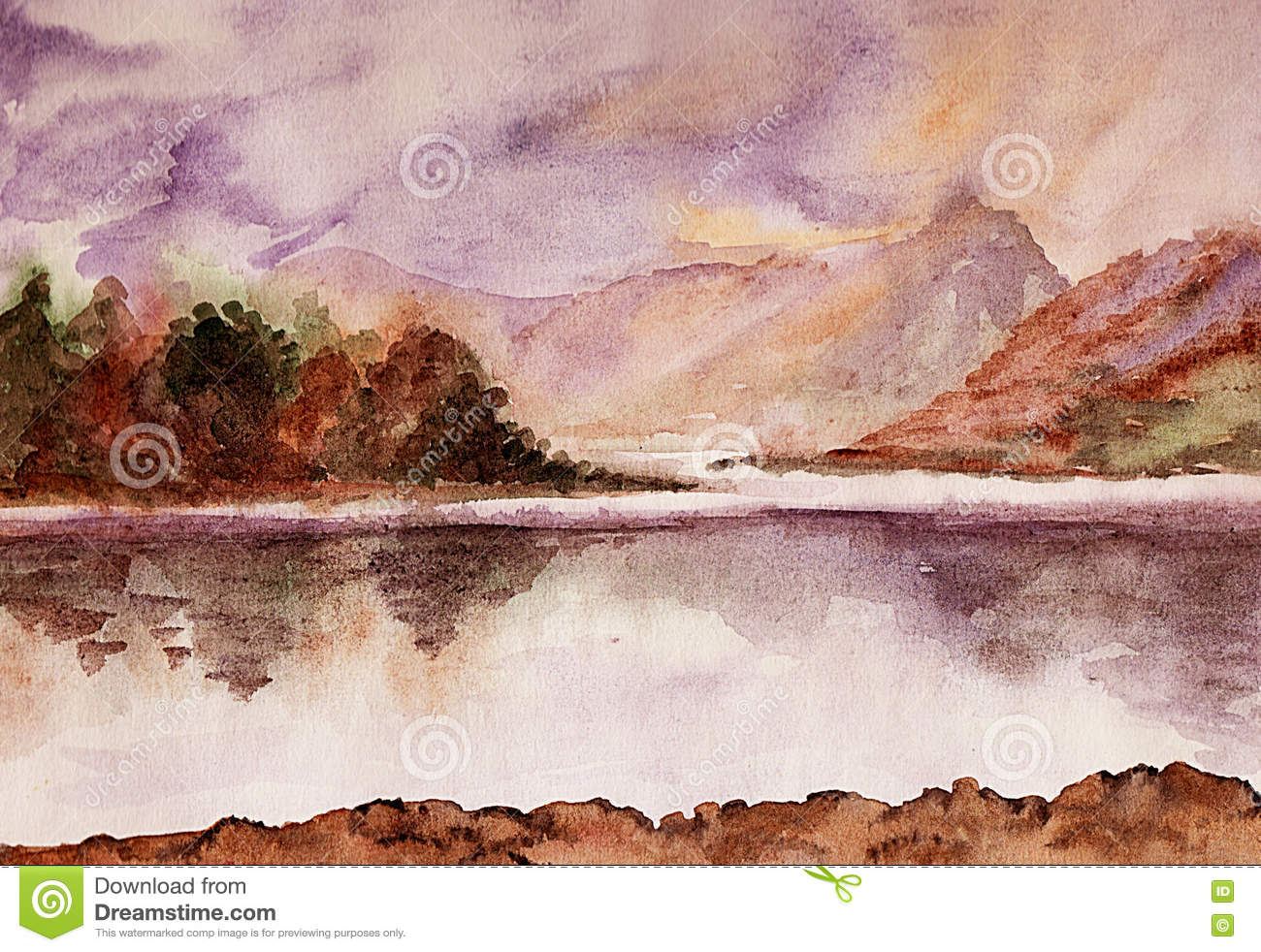 Kalme Rivier watercolor
