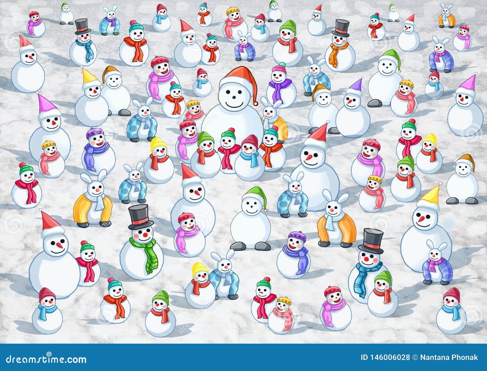 Kalter viel Schnee warmer Schnee