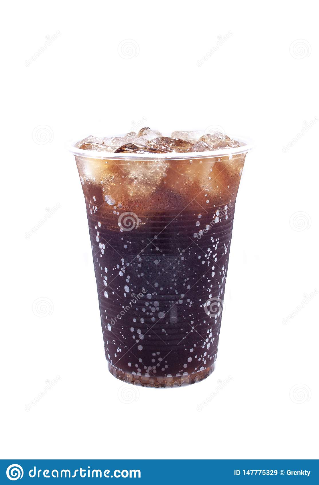 Kaltes Soda, gefrorenes Getränk, Plastikschale
