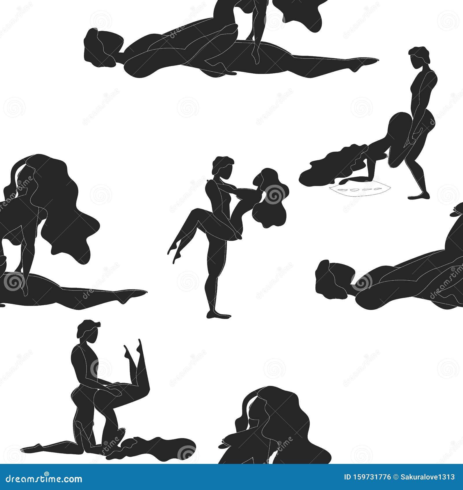 Kama Sutra Diseño Póster Tela Kamasutra Poses Tramposas Para Hacer El Amor Establecer Stock De Ilustración Ilustración De Coloque Amor 159731776