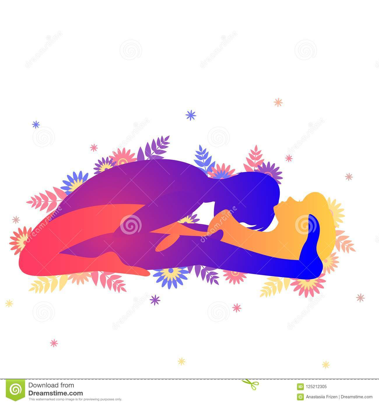 Kama Sutra Sexual Pose The Triumph Arch Stock Vector ...