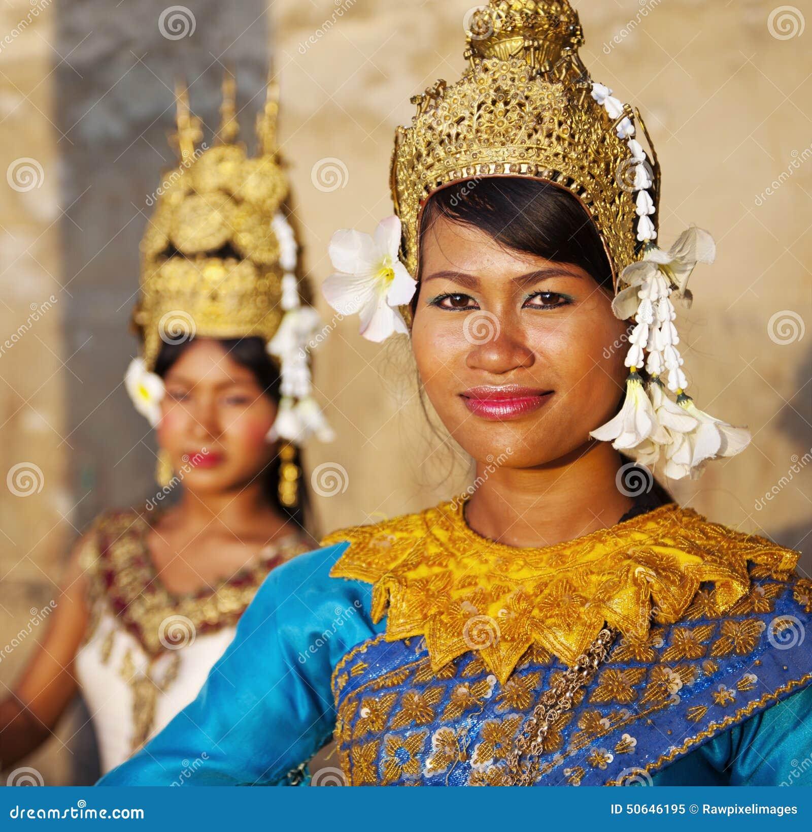 Kambodżański Tradycyjny Aspara tancerzy pojęcie