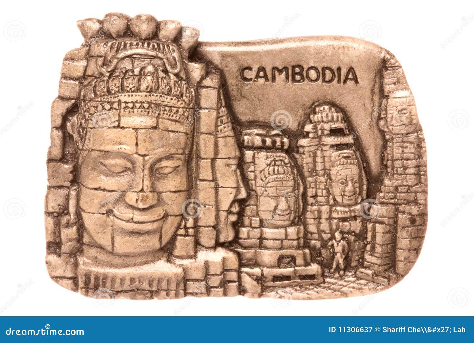 Kambodschanischer Kühlraum-Magnet getrennt