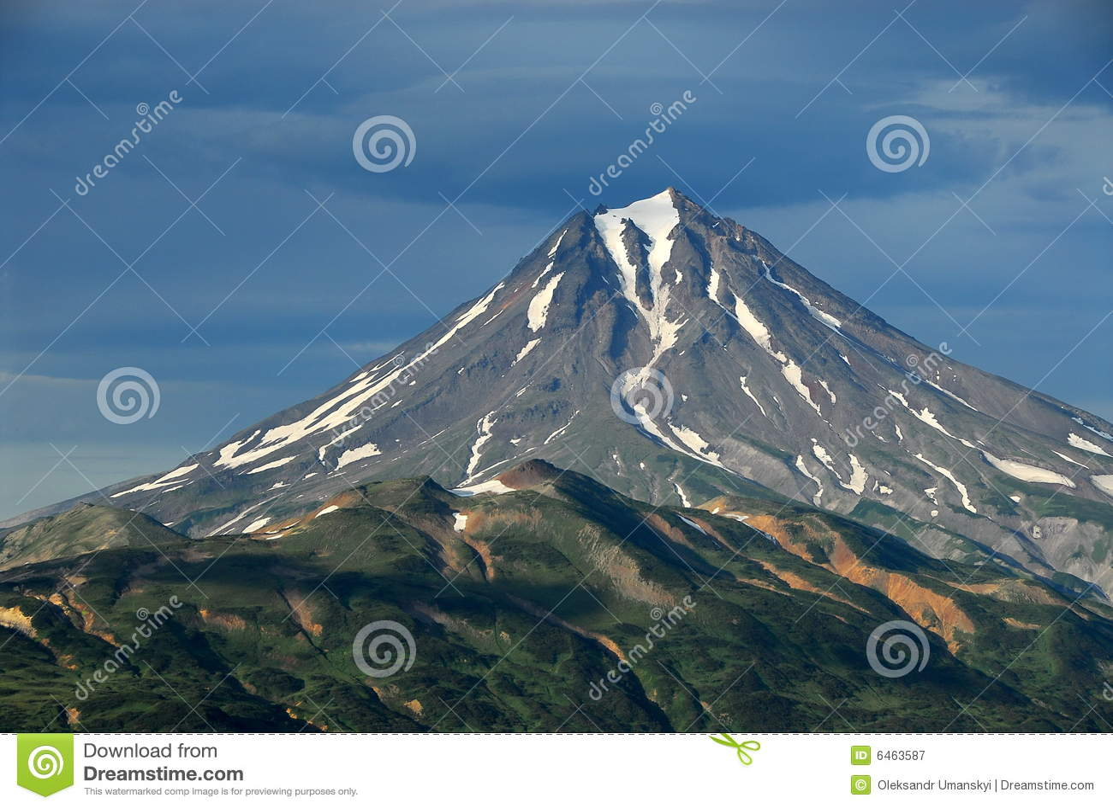 Kamchatka krajobrazu Rosji latem