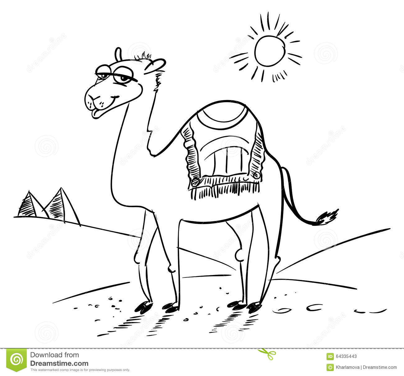 Desert Road Coloring Page