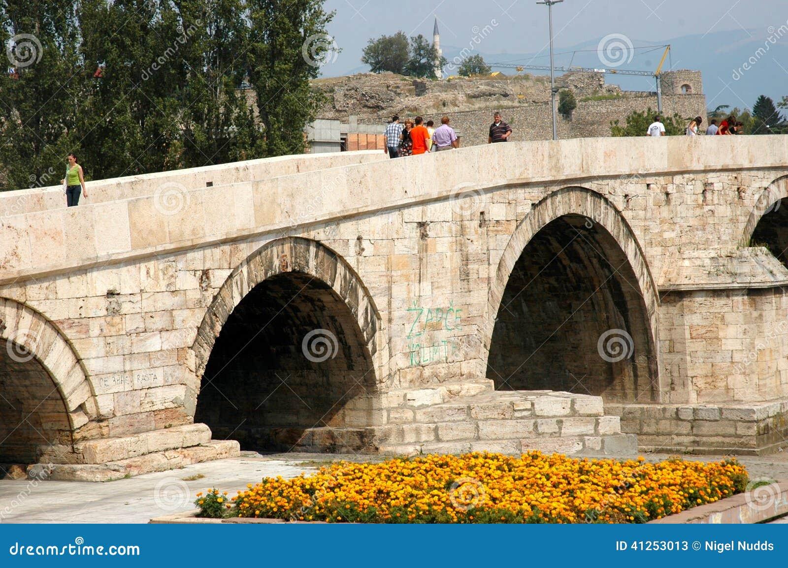 Kamen Most Bridge, Skopje, Macedonia