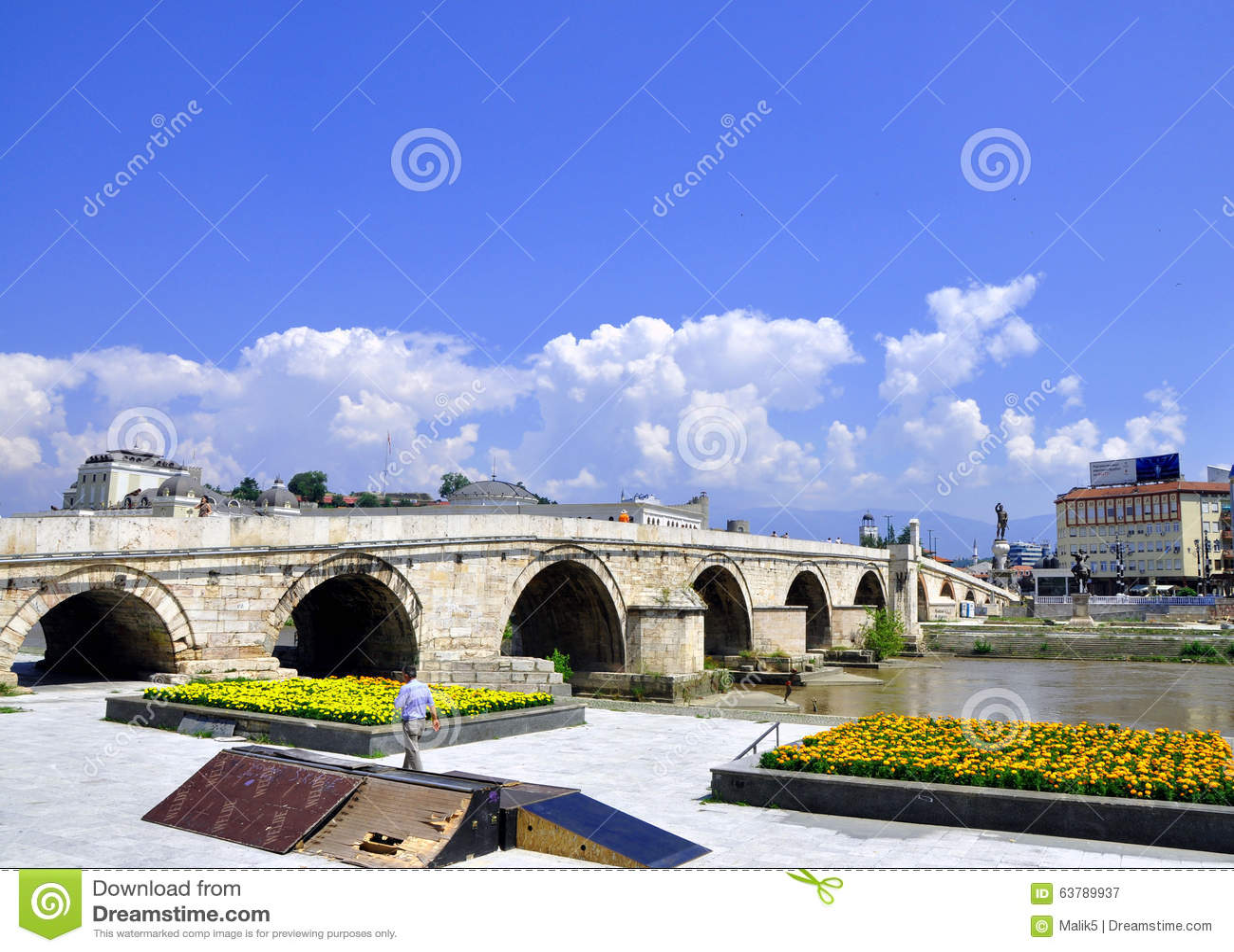 Kamen Most Bridge, Skopje, Mazedonien