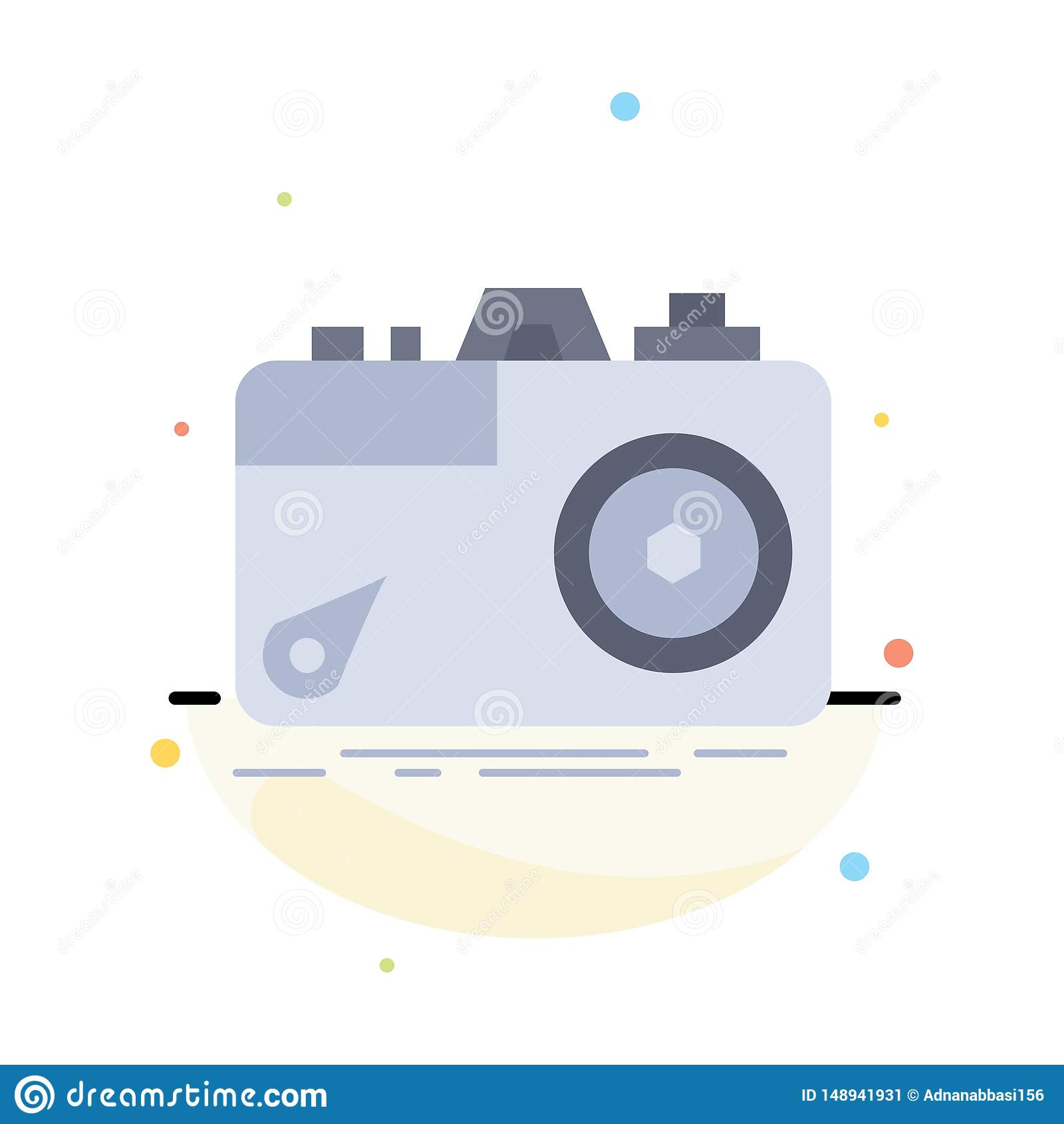 Kamera, fotografia, zdobycz, fotografia, apertura koloru ikony Płaski wektor